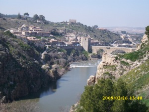 Looking across the Tagus River from Toledo's casco viejo